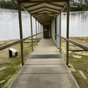 Bldg The Separate Prison Entrance walkway