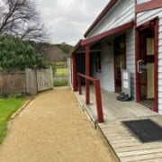 Bldg Trentham Entrance with ramp and decking