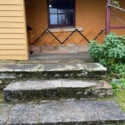 Bldg Parsonage steps up to verandah