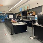 Cafe Counter and space for queueing to order