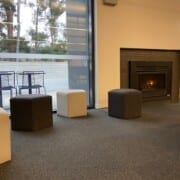 Cafe Seating cubes by fire