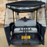 Courtesy Vehicle rear seat and wheelchair transport