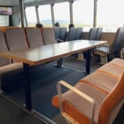 Harbour Cruise Seating in centre with table