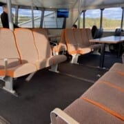 Harbour Cruise Seating in centre without table room for wheelchair