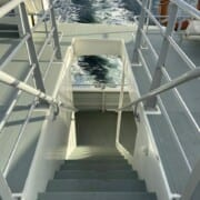 Harbour Cruise looking down stairs to upper deck
